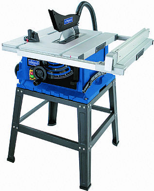 Scheppach HS105 10″ Table saw with stand and extensions. Cast Alloy Table.