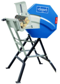 HS410 Swivel Log Saw 410mm diameter blade, 135mm deep cut 3hp motor
