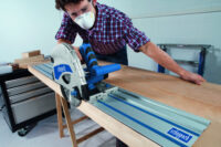 PL75 Pack 2, Plunge saw complete with two 1400mm guide tracks & accessory pack.