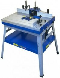 W015 Floor standing router table with sliding bed.