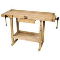 SIP Beech Work Bench with Two Vices - Kendal Tools